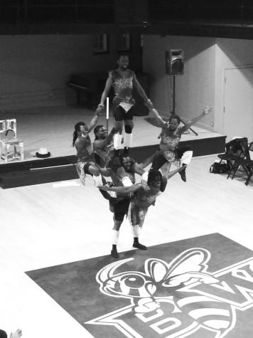Zuzu African Acrobats Entertain BW Audience