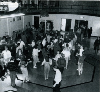 Students gather for a dance on Jan. 19, 1990 in honor of the grand opening of the Student Activities Center.
