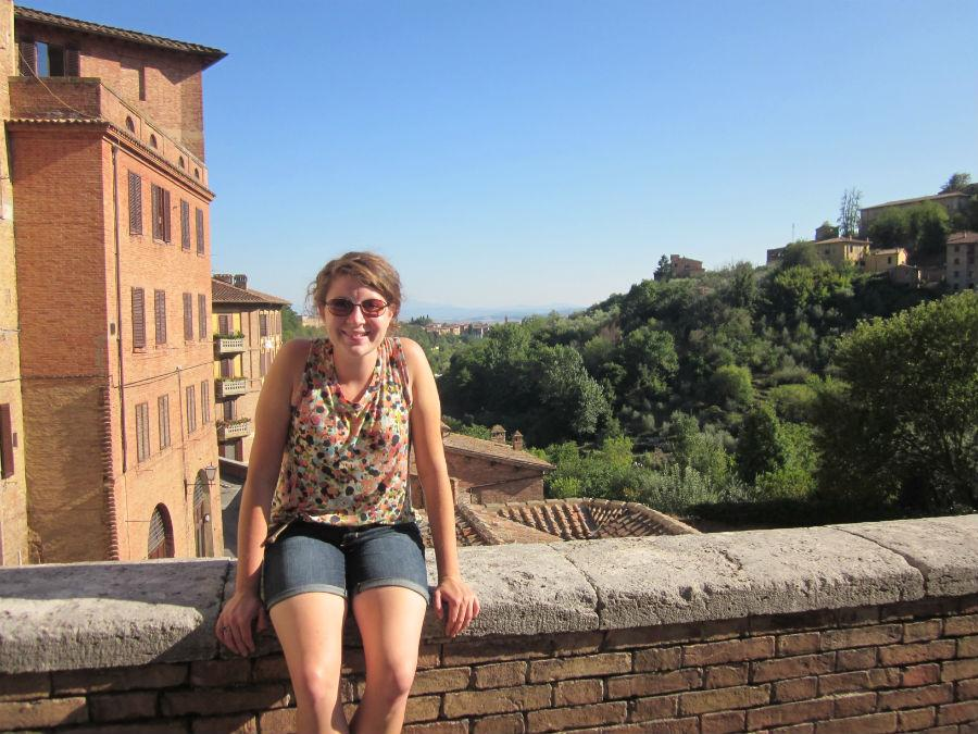 Sophia Viglione, Baldwin Wallace junior, studying abroad in Siena, Italy