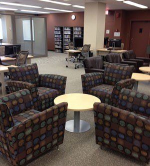 Ritter Library, Main Floor Computer/Work Lab