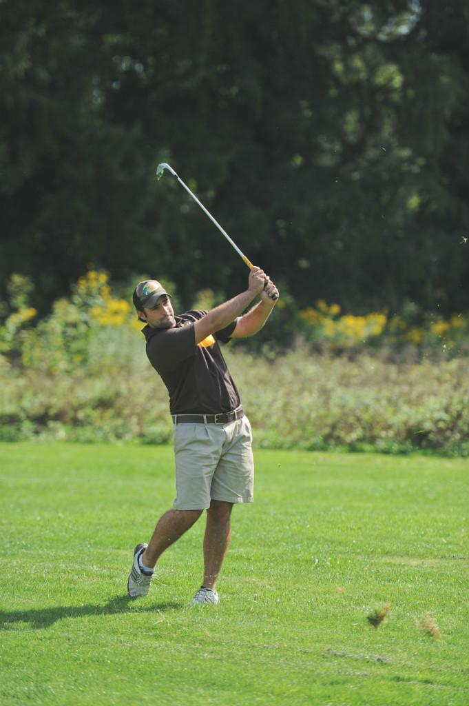 Senior Chris Nader carded his best score of the season (77) last year at the Muskingum Invitational.