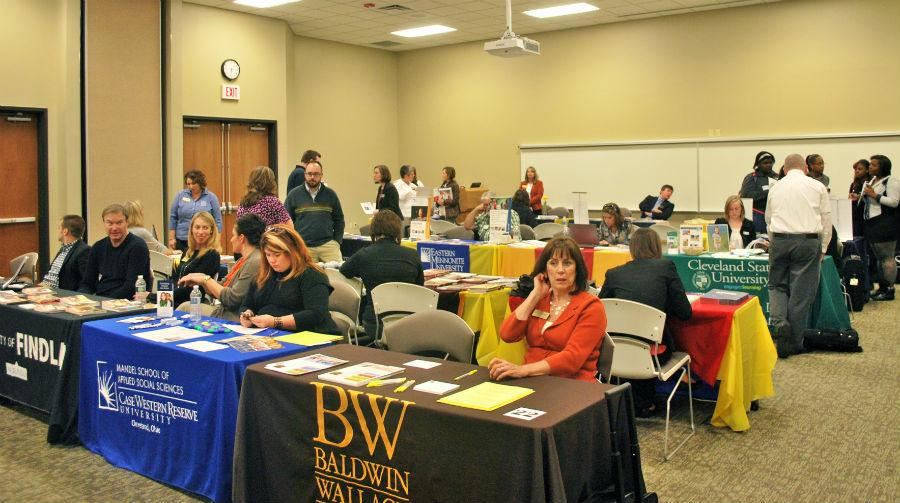 Representatives+from+over+200+graduate+programs+attended+the+fifth+annual+Graduate+School+Fair%2C+held+in+BWs+CIG+facilities.