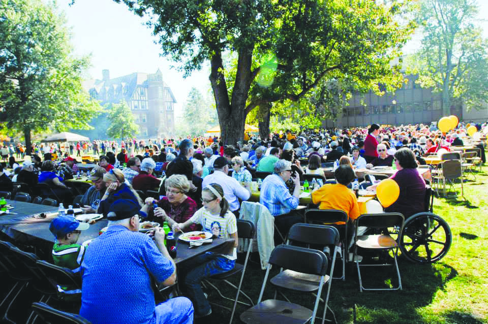 Students, faculty, family, and community gather on North Quad to celebrate Community Day.