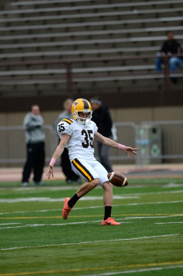 Senior Matt Harmon's career-best punt is 72 yards.
