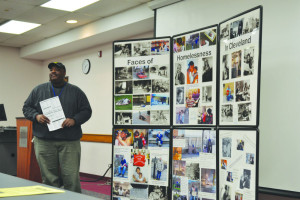 Presenters speak to BW students about the realities of homelessness. Pictured: Larry Davis. Credit: Elaina Zachos