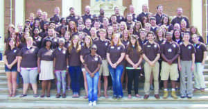 The 2013-2014 Residence Life Staff, Amendola in third row.  Photo credit: Baldwin Wallace University