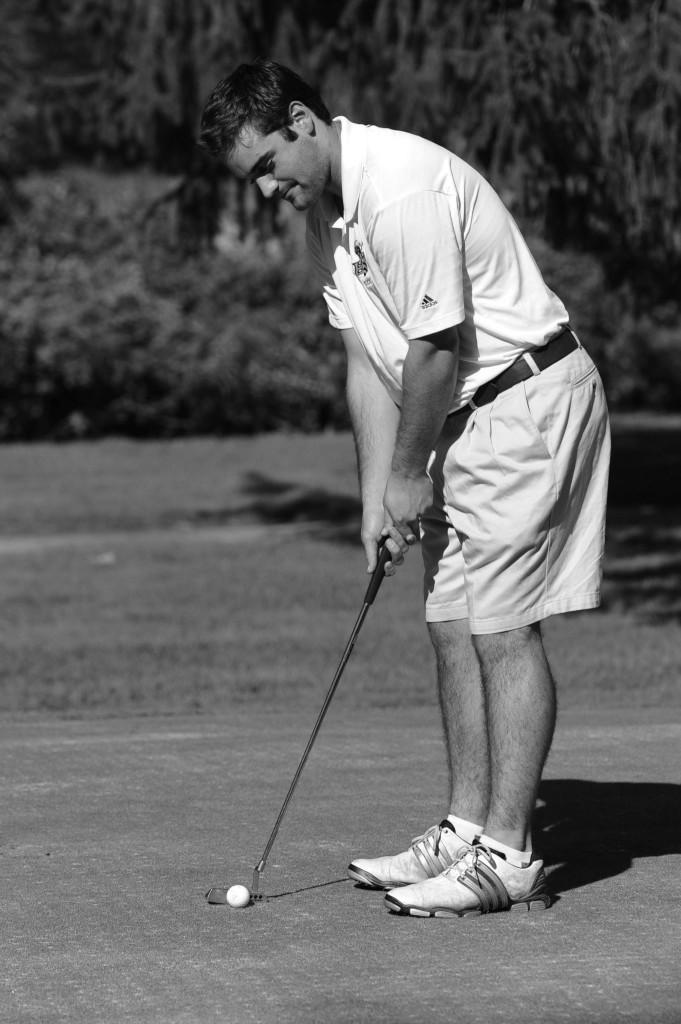 Senior Chris Nader is preparing for another successful spring golf season. Photo credit: BW Sports Information