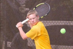 Sophomore Peter Harris had a 23-6 singles record during his freshman year. Photo credit: BW Sports Information