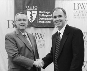 BW President Robert Helmer and Heritage College Executive Dean Kenneth Johnson.