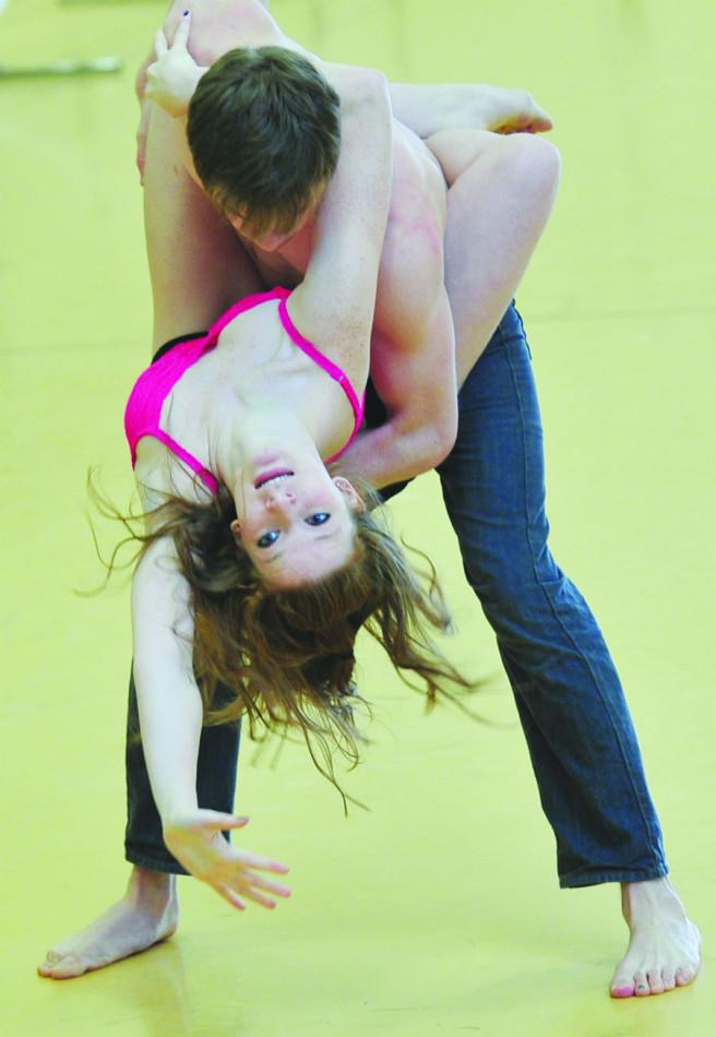 Anthony Sagaria and Megan McHugh in Separated. Choreographed by Ian Gregory Hill/Composed by Steven Hixson.