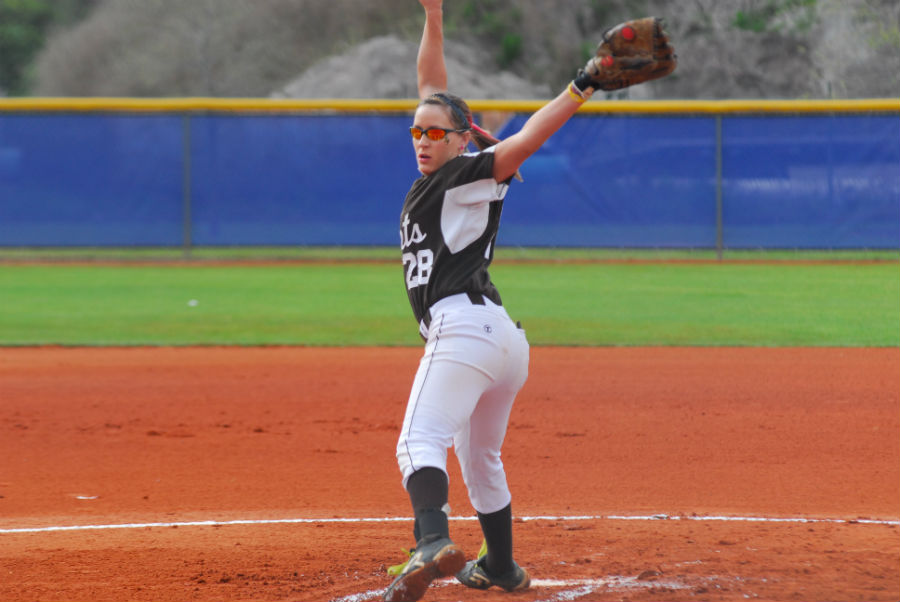 Senior Tabitha Murray has a batting average of .412 and an ERA of 3.39 so far this season.