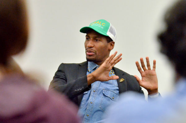 Iconic performer, jazz artist and cultural historian, Jonathan Batiste speaks to the Baldwin Wallace Community as part of the Enduring Questions: The 2014-2015 Mark Collier Lecture Series .