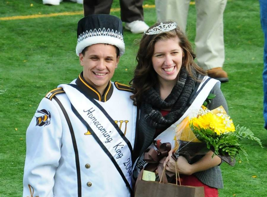 BW's 2014 Homecoming King and Queen, Rudy Kuntz '16 and Brianna Razzante '15