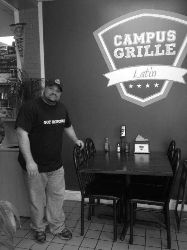 Chef Luis Roman, owner of  The Campus Grille, opened his restaurant in such close proximity to BW's campus because he feels that students are the perfect taste testers for the wide variety of cuisines the restaurant offers.