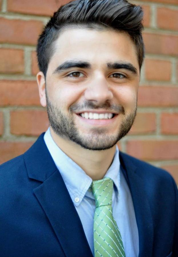 "Steven Vaccarro received the national ""Outstanding Leader of Tomorrow"" award from fraternity Phi Kappa Tau."