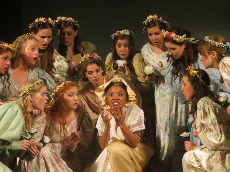 The+Women%E2%80%99s+Chorus+of+the+Maybud+cast+of+Ruddigore+surround+Erica+Moffatte%2C+%0D%0Aplaying+the+role+of+Dame+Hannah.+%0D%0A