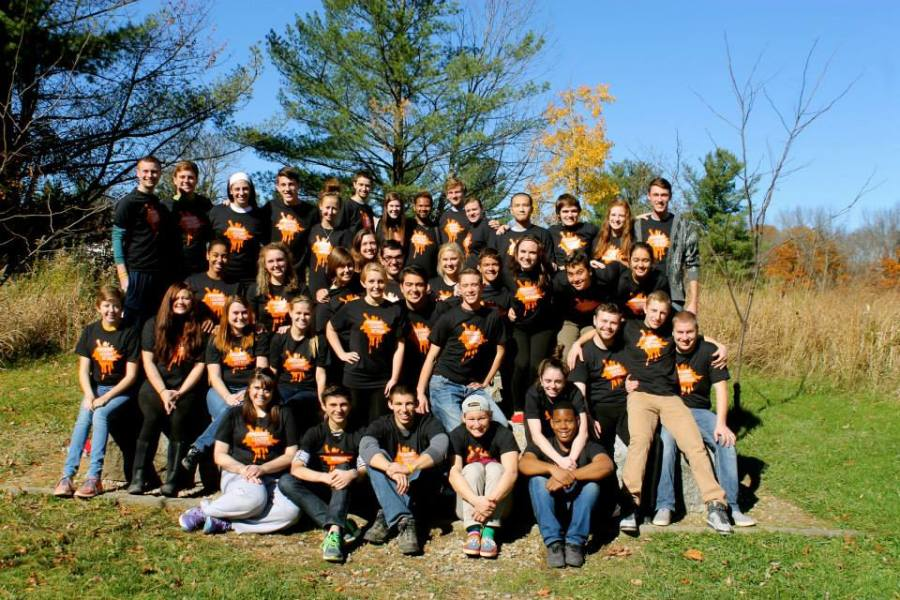 Baldwin Wallace students participating in this year's Emerging Leaders Retreat at Cuyahoga Conservation of Wildlife.