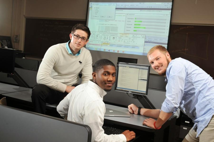 Seniors Tyiler George and DeShawn Franklin and junior Cameron Cordes were given the unique  opportunity to participate in a real-world project to develop and implement a mobile compatible website or mobile application through BW's partnership with OEConnection LLC.