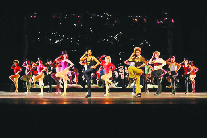 "The full ""Cassie"" cast of  A Chorus Line performs the opening number ""Opening/I Hope I Get It""."