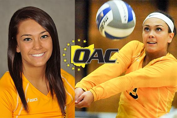 Sophomore libero Arlayna Newcomer was named to the 2014 All-OAC Team as an honorable mention selection.