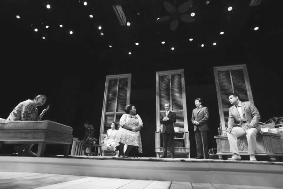 Left to Right: Cat Patterson, Will Kraziel, Maggie Williams, Courtney Horne, Connor Studer, Joseph Carmelo Corradi and Nicholas Baldasare onstage during the show.