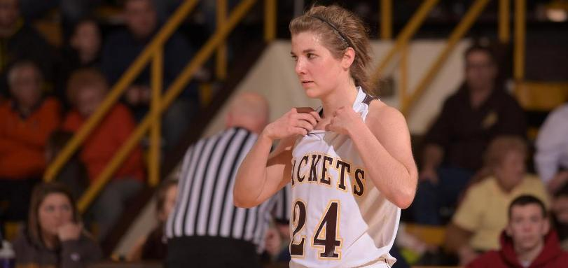 Senior forward Audrey Smolik scored a game high 15 points in a win over Capital University.