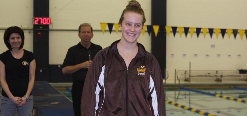Junior All-OAC diver Maddie Fortune was named the OAC Women's Diver of the Year.
