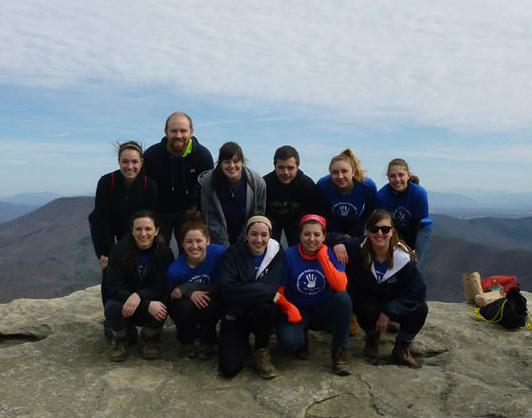 A group of BW students who traveled to Roanoake, Virginia to volunteer on the Appalachian Trail and Habitat for Humanity.