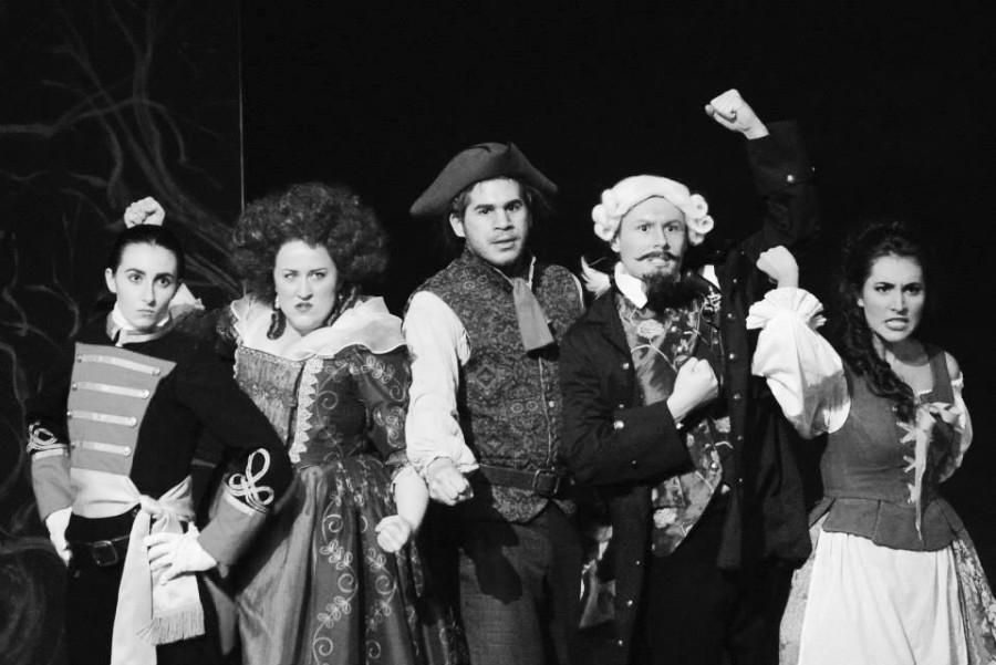 The Cast of La finta giardiniera Lost in the Woods, losing Their Sanity.