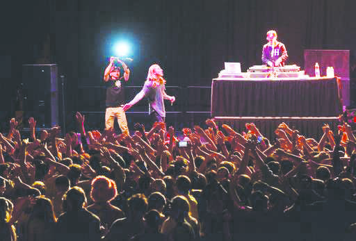 Rapper and musical artist Asher Roth performs in the Lou Higgens Center for the Baldwin Wallace Student Body as part of CEP's April Reign concert.