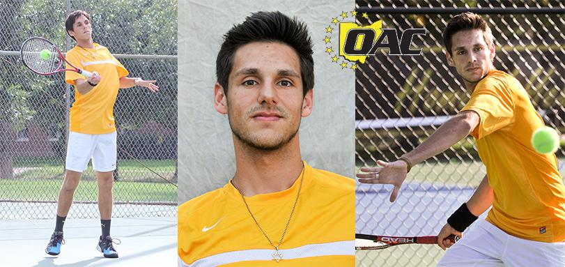Sophomore+Tennis+player+Nathan+Katz+earned+his+first+OAC+Conference+Men%E2%80%99s+Tennis+Player+of+the+Week+award.+