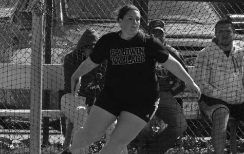 Sophomore thrower Kasey Clouse helped lead the Baldwin Wallace Women's Track team to a record setting day.