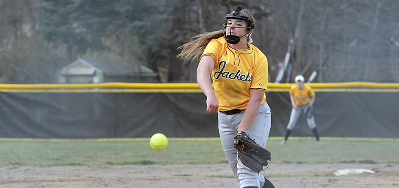 Nikki Turner throws a pitch during one of the games over Spring Break