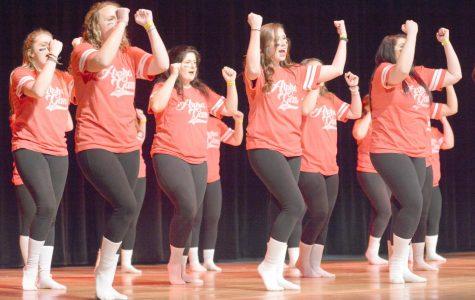 Last year's Greek Sing marked the 85th edition of the annual event. Taking top honors were Alpha Gamma Delta, above, and Pi Lambda Phi, below.