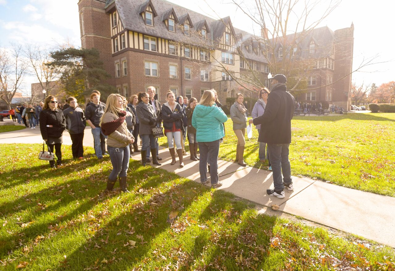 Events like Fall Preview Day bring large numbers of prospective students and their families to campus. The Office of Admissions, however, is seeking to improve the ways the university recruits new students.