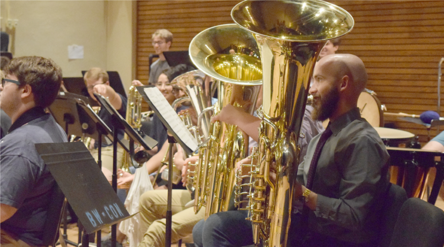 The Symphonic Wind Ensemble is the premier winds/brass/percussion group at