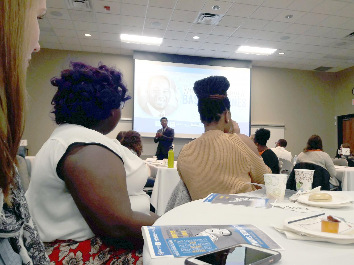 The Social Change Summit takes place in the CIG and attracted about 100 attendees this year.