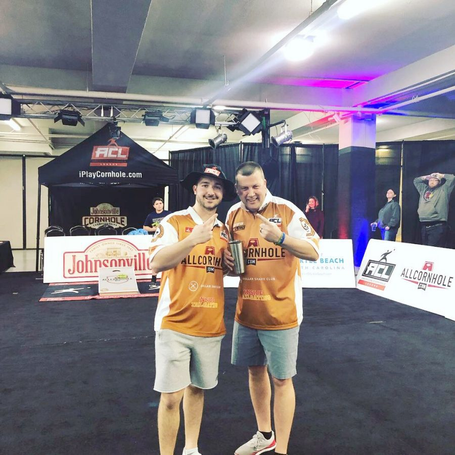 Anthony Kissel and Timmy Jonas took second place at the American Cornhole League National College Cup, which was shown on ESPN.