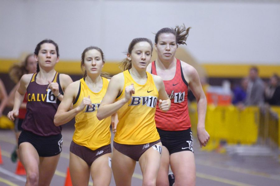During the Feb. 2 Wide Track Open, Kelly Brennan broke the BW record in the 3,000-meter that had held for 32 years.