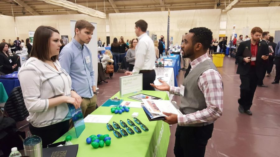 The Career and Internship Expo, presented by the Baldwin Wallace Career Services Office, brings employers to the Lou Higgins Recreation Center each year.