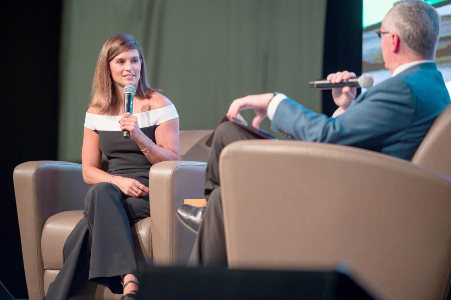 Danica+Patrick+cites+positivity%2C+perseverance+for+success+in+male-dominated+racing+industry