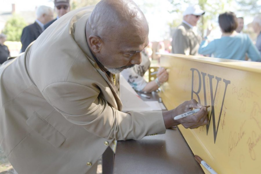 As part of the groundbreaking ceremony during the Bold + Gold Festival, students,